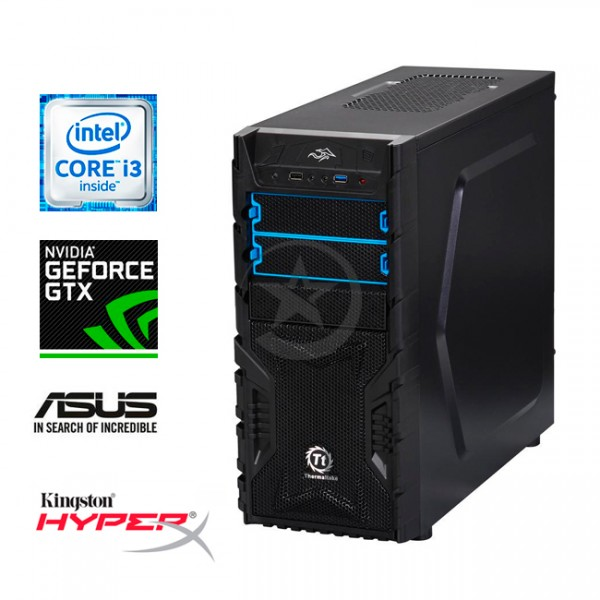PC Gaming Bronce V1 Intel Core i3-6100 3.7GHz, RAM 8GB, HDD 1TB, Nvidia GeForce GTX 1050 2GB, DVD, Torre Thermaltake 550W