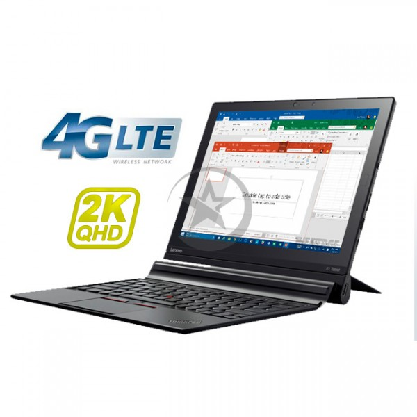 "Convertible Lenovo ThinkPad X1 Tablet, Intel Core M5-6Y57 1.1GHz, RAM 8Gb, SSD 256Gb Opal, Conectividad WiFI+Celular 4G LTE, LED 12"" QHD-2K Touch, Win 10 Pro + Lápiz"