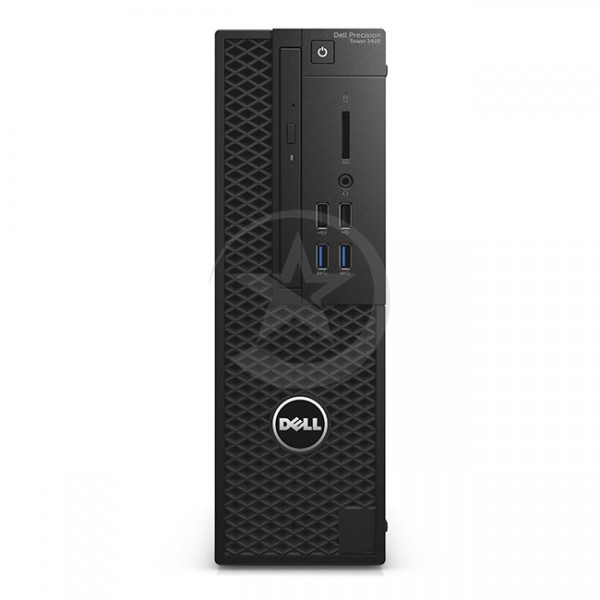 PC Dell WorkStation Precision 3420 SFF Intel Xeon® Quad Core E3-1225 v.5 3.30GHz, RAM 16GB , SSD 256GB ó HDD 1 TB , Video 1GB-NVIDIA® NVS™ 310, DVD, Win 10 Pro
