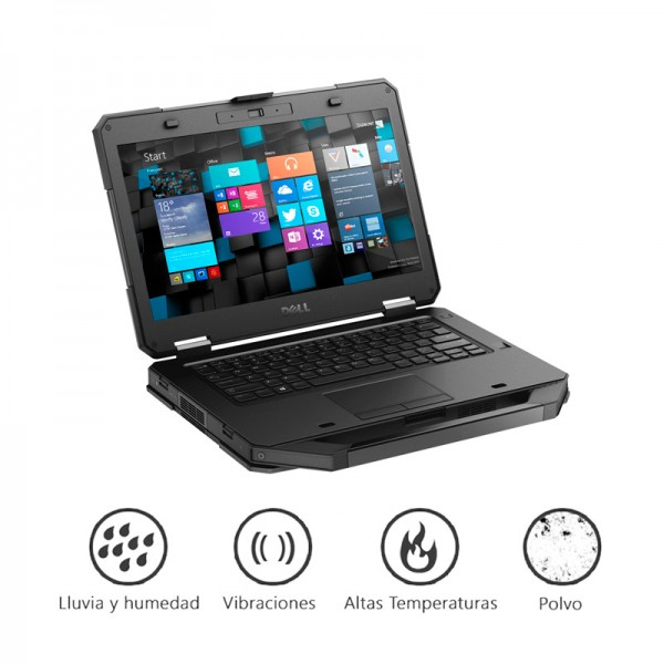 "Laptop Dell Latitude 14 5404 RUGGED ""EXTRA DURA"" Intel Core i5-4310U 2.0GHz vPro, RAM 16GB, SSD 512GB, DVD, 14"" HD, Win 8.1 Pro"