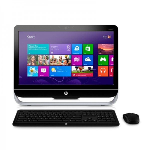 "PC Todo en Uno HP Pavilion TouchSmart 23-P027C, Intel Core i5 4570T 2.9GHz  vPro, RAM 8GB, HDD 1TB, DVD, LED  23"" Touch Full HD, Windows 8.1"