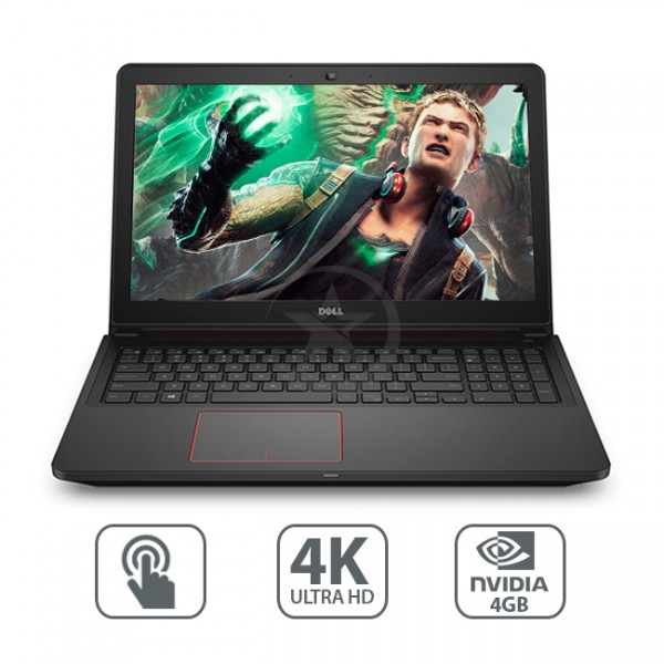 """Laptop Dell Inspiron 15-7559 GAMING, Core i7-6700HQ 2.6GHz, RAM 16GB, HDD 1TB , Video 4GB DDR5 GTX-960, LED 15.6"""" UHD-4K Touch, Win 10 eng"""