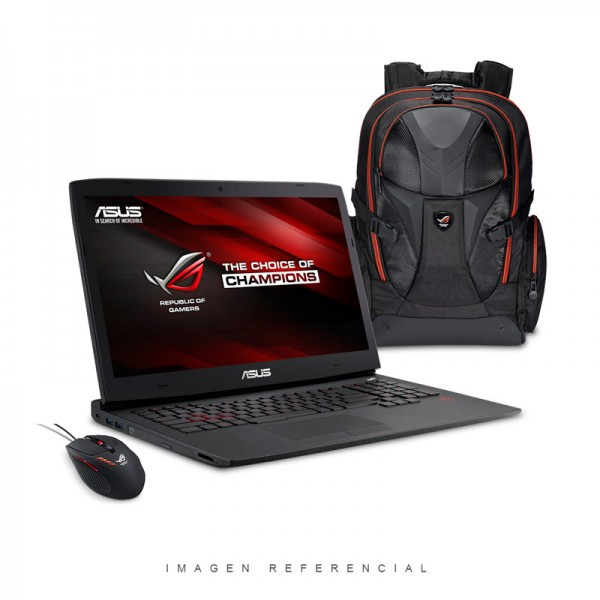 "Laptop Asus G751JY-T7137H Intel Core i7 4710HQ 2.5GHz, RAM 24GB, HDD 1TB+SSD 256GB, Video 4GB GTX 980, Bluray-re, LED 17.3"" Full HD, Win 8.1"