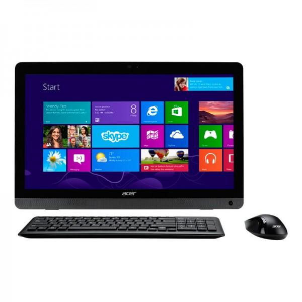 "PC Todo en Uno Acer Aspire AZC-606-UB13 Intel Dual core J800 2.4Ghz, RAM 4GB, HDD 500GB, DVD, LED 19.5""HD, Win 8.1"