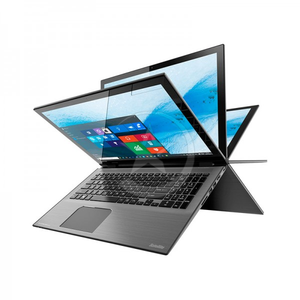 "Convertible Toshiba Satellite Radius P55W-C5212-4K  Intel Core i7-5500U 2.4 GHz, RAM 12GB, SSD 512GB, LED 15.6"" UHD-4K Touch, Win 10"