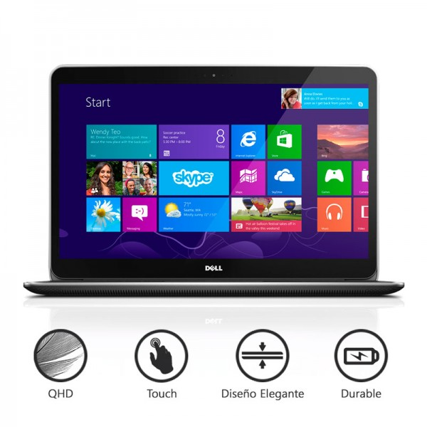 "Laptop Dell XPS 15-8947 ""Special Edition"" Intel Core i7-4712HQ 2.3 GHz, RAM 16GB, SSD 256GB, Video 2GB ddr5, LED 15.6"" QHD-3K Touch, Win 8.1"