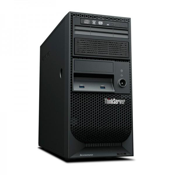 Servidor Lenovo ThinkServer TS140 (I34GB2TBR)  Intel Core i3-4130 3.4GHz, RAM 4GB, HDD 2 TB RAID 1 RSTE, DVD+RW, 4U Tower