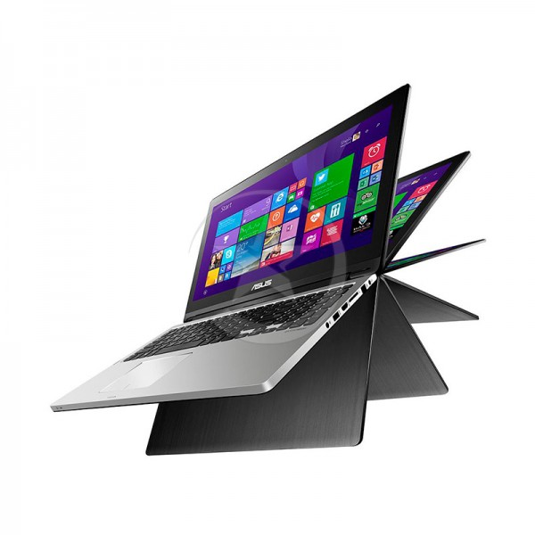 "Convertible Asus Flip R554LA-RH51T Intel Core i5-5200U 2.4Ghz, RAM 6GB, HDD 1TB, DVD, LED 15.6"" HD Touch 360°, Win 8"