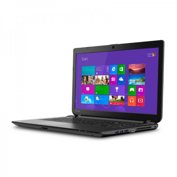 "Laptop Toshiba Satellite C55-B5200 Intel Core i3-4005U 1.7GHz, RAM 4GB , HDD750GB , DVD , 15.6""HD, Win8.1"