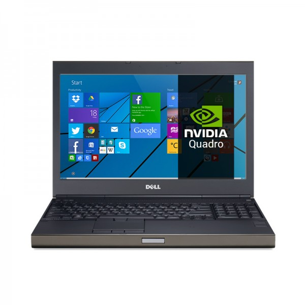 "Dell WorkStation Precision M4800 Intel Core i7 4810MQ 2.8GHz(vPro), RAM 32GB, SSD 512GB, NVidia Quadro K2100M 2GB, DVD, 15.6"" Full HD, Windows 8.1 Pro"