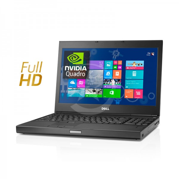 "Laptop Dell WorkStation Precision M6800 Intel Core i7 4710MQ 2.5GHz, RAM 32GB, HDD 1TB + 256GB SSD, NVidia Quadro K3100M 4GB, DVD, 17.3"" Full HD, Windows 8.1 Pro"