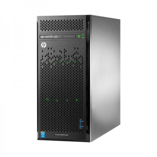 Servidor HP ProLiant ML110 G9 Plus  4.5U Torre  Intel Xeon Six-Core E5-2603 v4 1.7GHz, RAM 32GB DDR4 ECC, HDD 4TB SATA, DVD