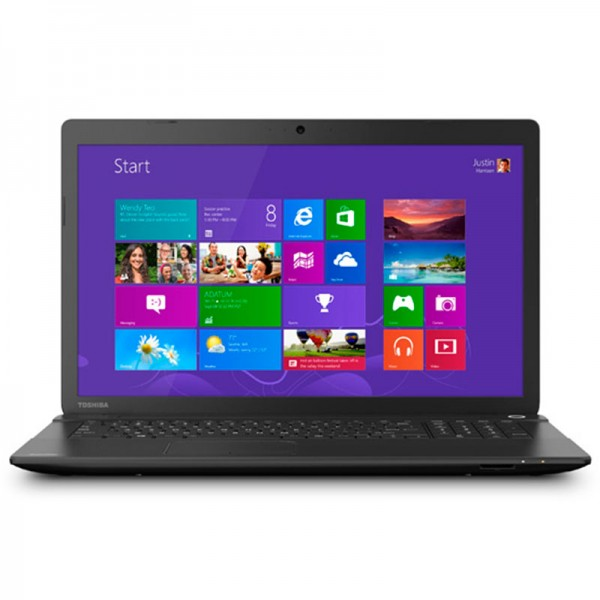"Laptop Toshiba Satellite C70-BST2NX Intel Core i3-4025U 1.9GHz, RAM 4GB, HDD 500GB, DVD, LED 17.3"" HD, Windows 8.1"