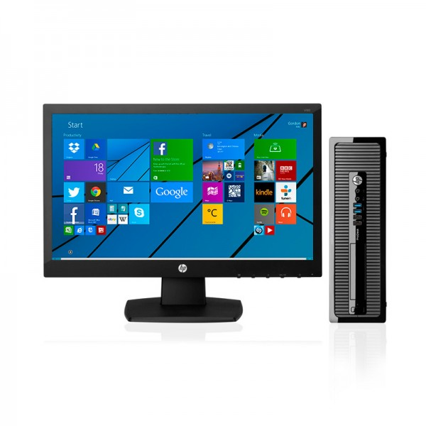 "PC HP ProDesk 400 G1 Intel® Core™ i5-4570 3.2GHz, RAM 8GB, HDD 1TB, DVD, Monitor HP 18.5"", Windows 8.1"