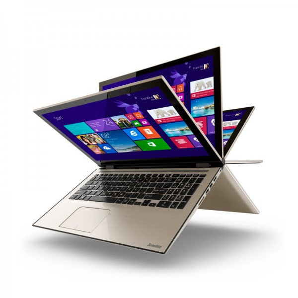 "Laptop Toshiba Satellite Fusion L55W-C5202S, Intel Core i7-5500U 2.40GHz, RAM 16GB, HDD 1TB, LED 15.6"" Full-HD Touch Giratoria, Win 8.1"