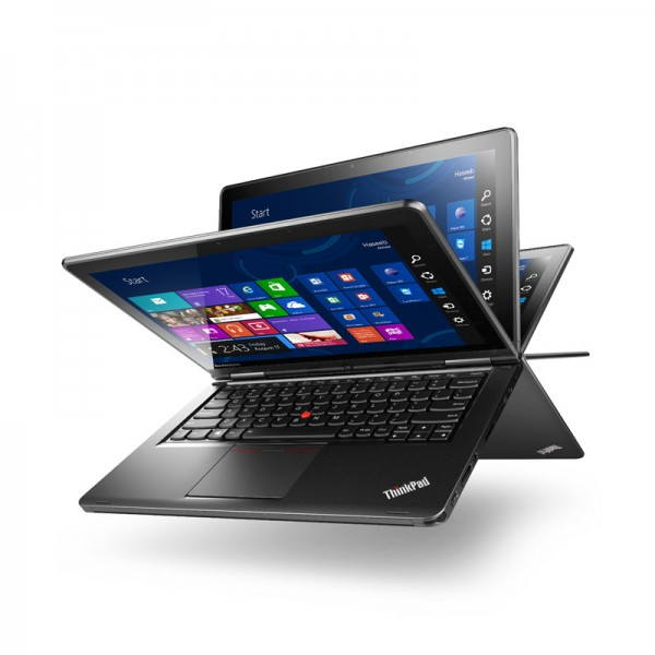 Laptop Convertible Lenovo ThinkPad S1 Yoga Intel Core i5-4300U 1.90GHz, RAM 4GB, HDD 500GB + SSD 16GB, 12.5'' Full-HD Touch, Win 8 Pro