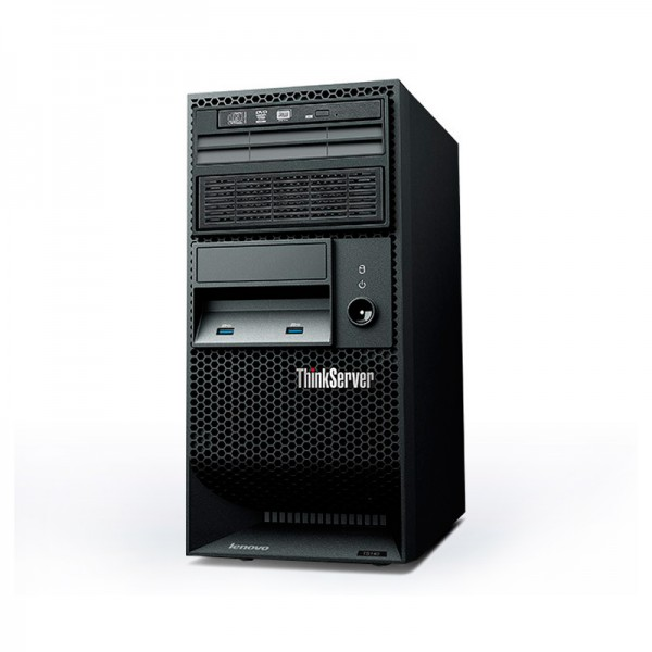 Servidor Lenovo ThinkServer TS140 (I38GB1TB)  Intel Core i3-4130 3.4GHz, RAM 8GB, HDD 1TB , RAID, DVD+RW, 4U Tower