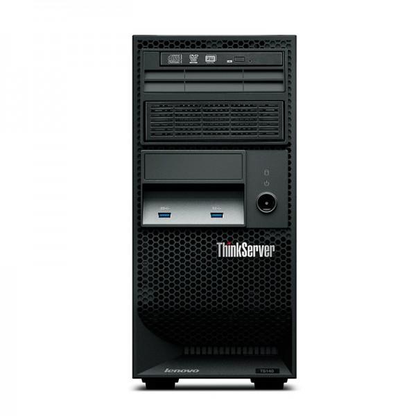 Servidor Lenovo ThinkServer TS140 (I34GB1TB)  Intel Core i3-4130 3.4GHz, RAM 4GB, HDD 1TB , RAID, DVD+RW, 4U Tower