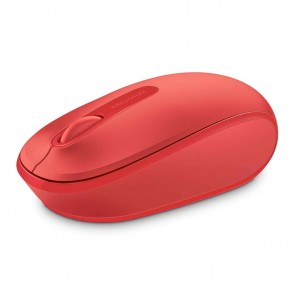 Microsoft Wireless Mobile Mouse 1850 - Rojo flama - Inalámbrico - Plug and Go