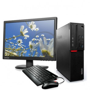 PC Lenovo ThinkCentre M900 SFF, Intel Core i7-6700 3.4GHz, RAM 8GB, HDD 1TB , WiFI, BT, DVD, Windows 10 Pro + Monitor Lenovo ThinkVision E2054