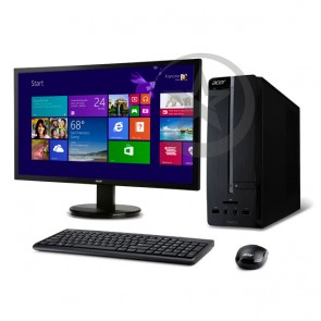PC Acer Aspire AXC-605-RT32 Intel Core i3 4160 3.6Ghz, RAM 6GB, HDD 1TB, DVD+RW, Windows 8.1 + Monitor ACER K202HQL 20""