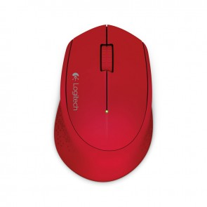Logitech Mouse Wireless M280 - Rojo - Inalámbrico - 1000dpi
