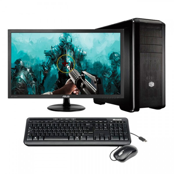 "PC I7 GAMING PLUS Intel Core I7-7700 3.6GHz, RAM 16GB, SSD 240GB + HDD1TB , T. Video GTX 1070 8GB, Blu-ray, LED 24"" FULL HD"
