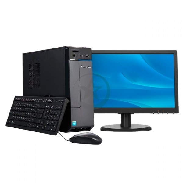 PC Lenovo  H30-05, AMD Dual Core E1-6010 1.35GHz, RAM 4GB, HDD 500GB, WI-FI, DVD-RW, Windows 10 + Monitor LED 18.5 Pulgadas