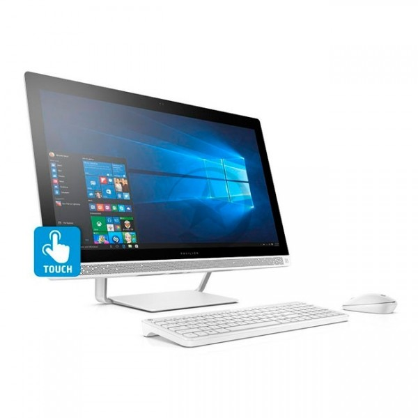 "PC Todo en Uno HP Pavilion 27-A200LA, Intel Core i7-7700T 2.9GHz, RAM 16GB, HDD 3TB, Video Nvidia 930MX 4GB, Wi-FI, BT, DVD, LED  27"" Touch-Táctil, Windows 10 Home"