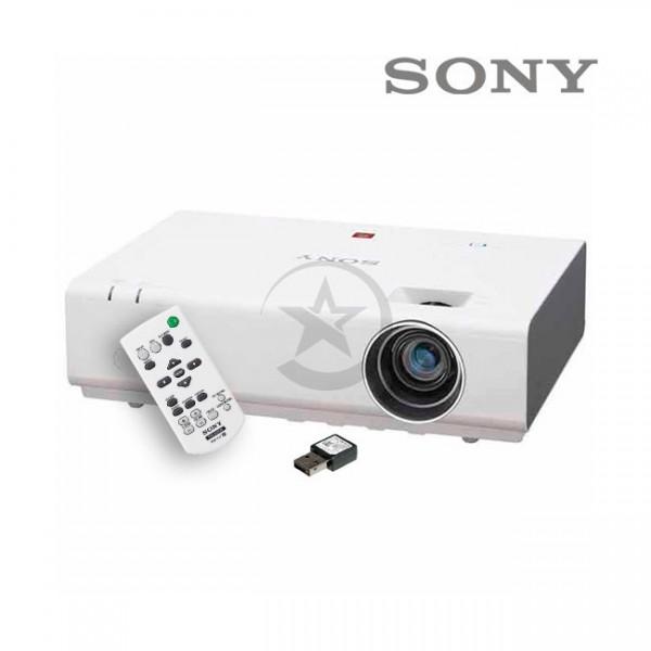 Proyector Sony VPL-EX235W, 2800 lúmenes, XGA de 1024x768, Sistema 3 LCD, HDMI, conectividad inalámbrica incluida.