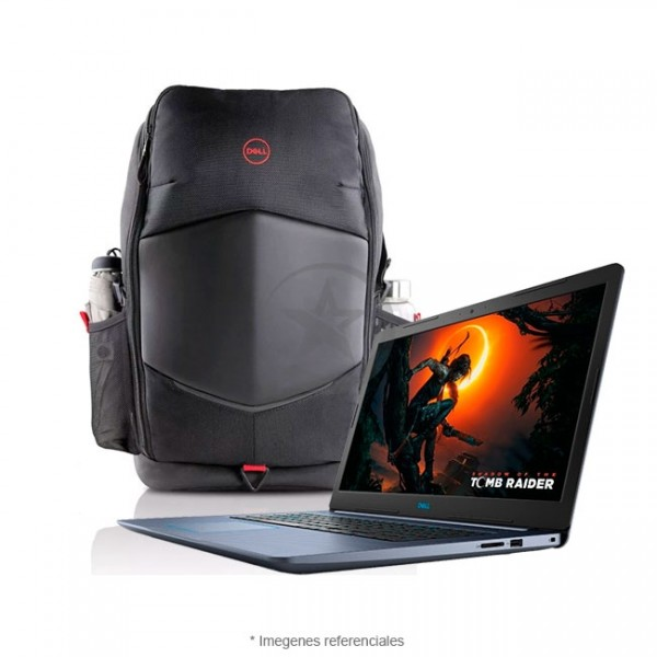 "Laptop Dell G3 17-3779 Pack Gaming, Intel Core i7-8750H 2.2GHz, RAM 16GB, HDD 1TB+SSD 128GB, Video 6GB Nvidia GTX-1060, LED 17.3"" Full HD, Windows 10 SP + Mochila Gaming 17"""