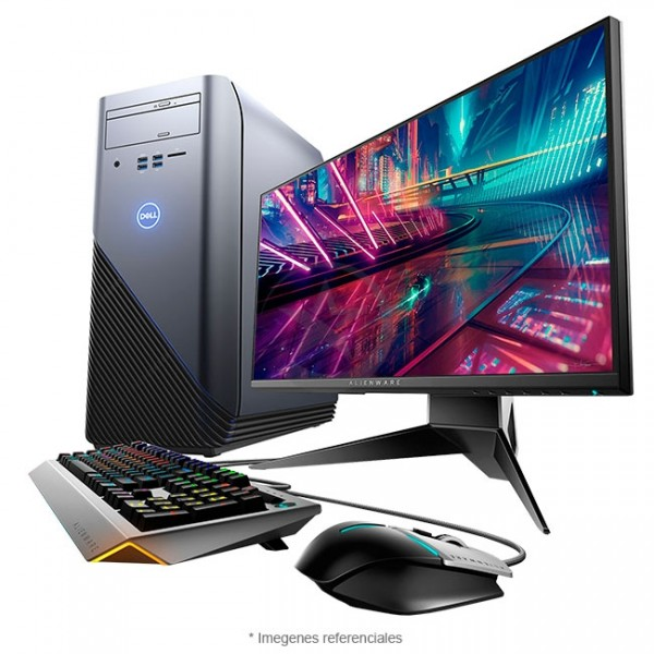 "PC Dell Inspiron 5675 Alienware Edition, AMD Ryzen 7-1700X 3.8GHz, RAM 16GB, HDD 1TB + SSD 128GB, Video 4GB AMD RX570, Wi-FI, DVD, Windows 10+Teclado y Mouse Alienware + Monitor Dell Alienware AW2518HF 25"""