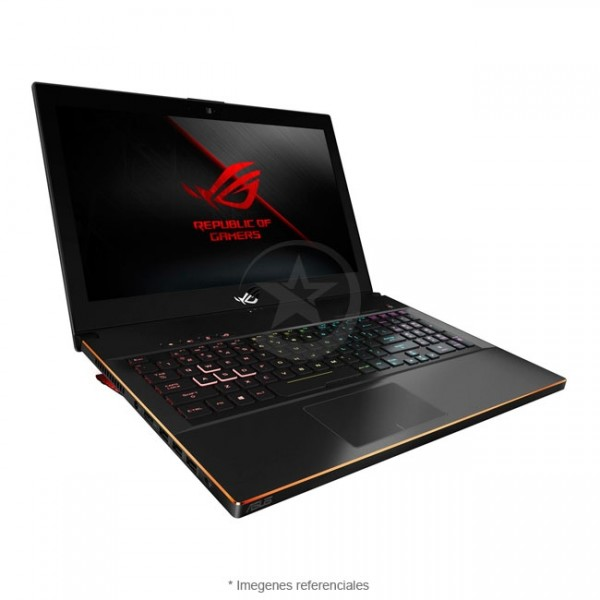 "Laptop Asus ROG ZEPHYRUS M GM501GM-WS74 Ultra-Slim, Intel Core i7-8750H 2.2GHz, RAM 16GB, HDD 1Tb+ Sólido SSD 256GB PCIe, Video 6GB Nvidia GTX 1060, LED 15.6"" Full HD 144Hz, Windows 10 Home"