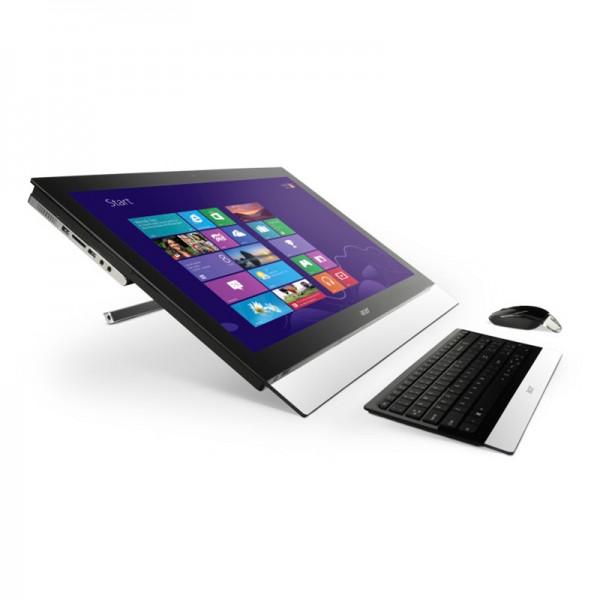 """PC Todo en Uno Acer Aspire U A7600U-UR308 Core i5 3210M 2.5GHZ, RAM 8GB, HDD 1TB, Video 2GB, BLURAY, LED 27"""" Full HD Touch, Win 8"""