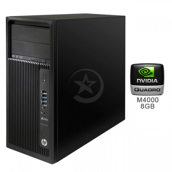 PC WorkStation HP Z240, Intel Core i7-6700 3.4GHz, RAM 64GB , HDD 2TB+SSD 512GB, Video 8GB Quadro M4000, DVD, Windows 10 Pro