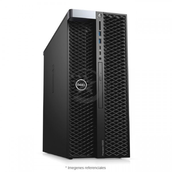PC Dell WorkStation Precision T5820 Intel® Xeon® Quad-Core W-2102 2.9GHz, RAM 32GB ECC, Sólido SSD 256GB + HDD 2TB, Video 8 GB Nvidia Quadro P4000, DVD, Windows 10 Pro