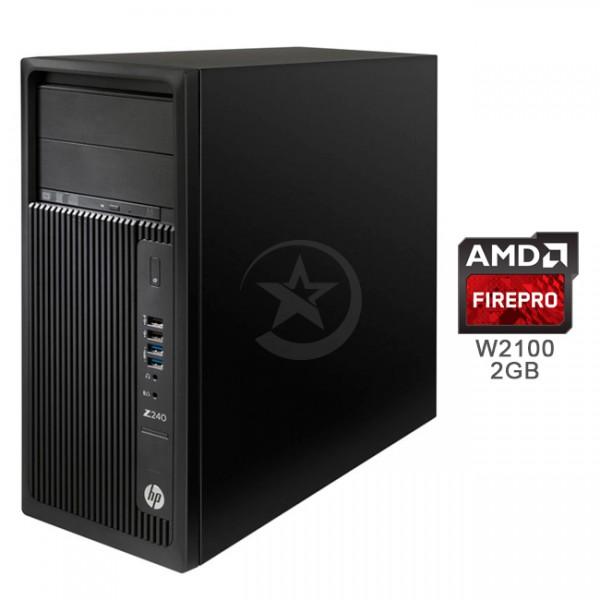 PC WorkStation HP Z240, Intel Core i7-6700 3.4GHz, RAM 8GB , HDD 1TB, Video 2GB AMD FirePro™ W2100 , DVD, Windows 10