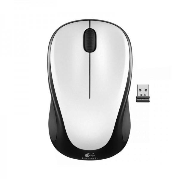 Logitech Mouse Wireless M317 - Crystal White - Inalámbrico - Nano receptor - 1000DPI