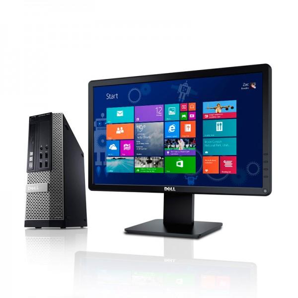 "PC Dell OptiPlex 7010 Intel Core i7 3770 3.4 GHz, RAM 4GB, HDD 500GB, DVD, Windows 7 Pro + Monitor LED 18.5"""