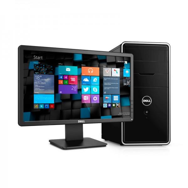 """PC Dell Inspiron Desktop 3000, Intel Core i5-4440 3.1GHz, RAM 12GB, HDD 1TB, DVD, Windows 8.1 Pro+ Monitor DELL  E2015HV 20"""""""