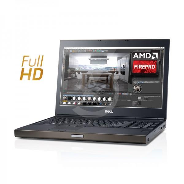 """Laptop Dell WorkStation Precision M6800 Intel Core i7 4710MQ 2.5GHz, RAM 16GB, HDD 1TB + SSD 256GB, ATI FirePro M6100 2GB ddr5, DVD, 17.3"""" Full HD, Windows 8.1 Pro"""