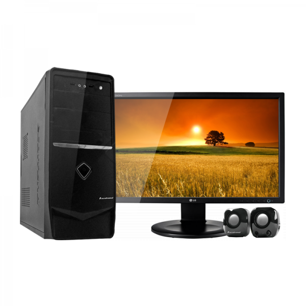 "PC ECO TREND 3086, Intel Dual Core J1800 2.41 GHz, RAM 4GB, HDD 750GB, DVD, Monitor LED 18.5"" Win7 ST"