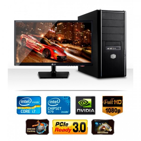 "PC Xtreme Intel Core i7 7700k 4.2GHz, RAM 32GB, SSD 256GB m.2 + HDD 2TB, Video Nvidia GTX 1080 8GB DDR5, Blu-ray Disk, LED 27"""
