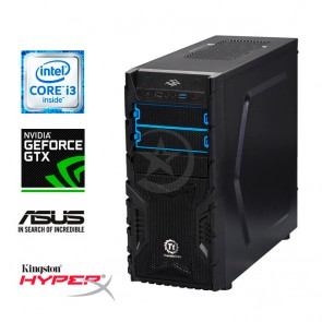 PC Gaming Bronce V1 Intel Core i3-7100 3.9GHz, RAM 8GB, HDD 1TB, Nvidia GeForce GTX 1050 2GB, DVD, Torre Thermaltake 550W7