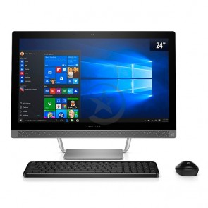 "PC Todo en Uno HP Pavilion 24-B208la, AMD A9-9410 2.9GHz, RAM 8GB, HDD 1TB, Wi-FI, BT, DVD, LED 23.8"" Full HD, Win 10 Home"