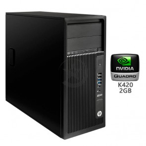 PC WorkStation HP Z240, Intel Core i7-6700 3.4GHz, RAM 16GB , HDD 1TB+SSD 180GB, Video 2GB Quadro K420, DVD, Windows 10