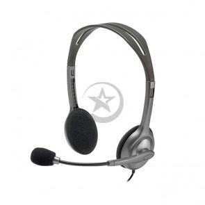 Auriculares Logitech H110 Stereo, Microfono de 3.5mm con doble conector