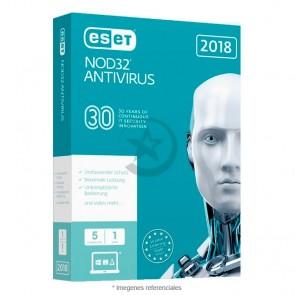 Antivirus ESET NOD32, Edición 2018, 5 PC