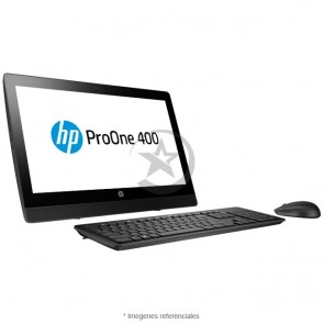 "PC Todo en Uno HP ProOne 400 G3, Intel Core i3-6100 3.7 GHz, RAM 4GB, HDD 500GB, WiFI, DVD-RW, LED 20"" HD, Windows 10 Pro"