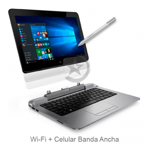 "Convertible HP Pro x2 612 G1, Intel Core i3-4012Y 1.5GHz, RAM 4GB, SSD 128GB, WiFI + Celular, LED 12.5"" HD Táctil, Lápiz, Windows 10 Pro,"